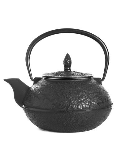 Taşev Linden - Nergis 800 ml Siyah Döküm Çaydanlık-Bambum